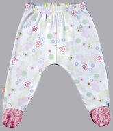 Kushies Baby - Floral Print Footed Leggings