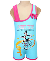Looney Tunes - Sleeveless One Piece Swim Suit With Bow