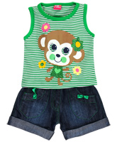 WOW -  Sleeveless Girls T-Shirt And Shorts