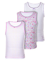 Lady Bird - Multi Print Set of 3 Girls Slips