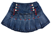 Lady Bird - Pleated Denim Skirt