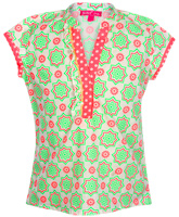 Biba - Short Sleeves Floral Print Kurti