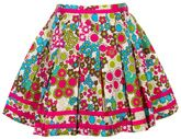 Ladybird - Floral Print Skirt With Pleats