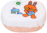 Fab N Funky - Bath Sponge With Rabbit Print