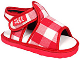 Cute Walk - Red Checks Sandals