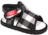 Cute Walk - Black Checks Sandals