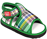Cute Walk - Green Checks Sandals