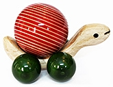 Wooden Pigo Turtle Moving Toy 2 Years +, A  Multicolour Wooden Toy