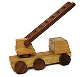 Wooden Fire Brigade Moving Toy 2 Years +,  Sturdy And Durable Wooden Toy For Your K...