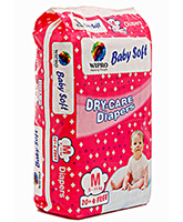 Wipro Baby Soft Dry Care Diapers Medium - 24 Pieces