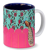 India Circus Kuheli Peacock Plume Coffee Mug