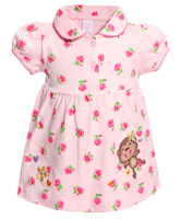 Toffy House - Short Sleeves Rose Print Frock
