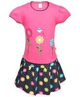Toffy House - Top & Skirt Set Flower Print