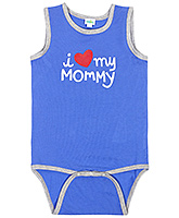 Baby Hug - Boys  Blue Sleeveless Onesies