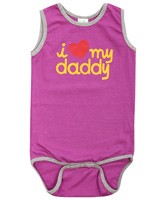 Baby Hug - Sleeveless Heart Print Onesies