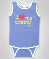 Baby Hug - Sleeveless Heart Printed Onesies
