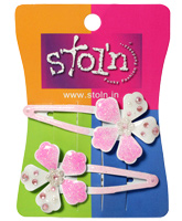 Stol'n - Sparkle Flower Snap Clips