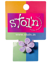 Buy Stol''n - Purple Firangi Paani Flower Ring