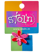 Stol'n - Red Purple Pink Flower Ring