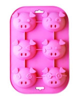 Silicone Zone Pink Piggy Muffin Moulds - SZ1192