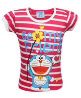Doremon - Short Sleeves T-Shirt With Stripes