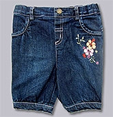 Beebay - Flower  Dark Blue Capri