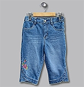 Beebay - Flower Sequin Blue Capri