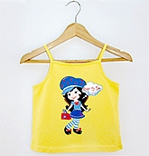 Beebay - Yellow Sapgetthi Top With Graphic