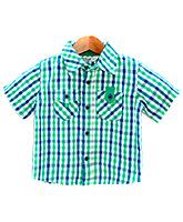 Buy Beebay -  Half Sleeves Teal Green Check Shirt