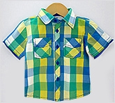 Beebay - Tropical Green Yellow Half Sleeves Shirt