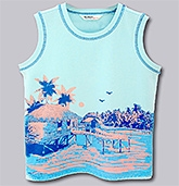 Beebay - Sleeveless Printed T-Shirt