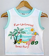 Beebay - Sleeveless Beach Print T-Shirt
