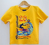 Beebay - Half Sleeves Yellow Graphic T Shirt
