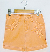 Beebay - Denim Skirt With Embroidery