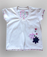 Toonz - Off White Top With Flower Embroidery