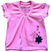 Toonz - Pink Top Flower Embroidery