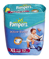 Baby Diapers - Pampers Active Baby (Imported)