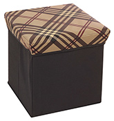Fab N Funky - Coffee Brown Storage Cum Stool  Brown