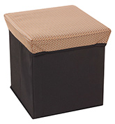 Fab N Funky - Storage Cum Stool  Brown Square Design