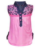 SAPS - Sleeveless Embroidered Top