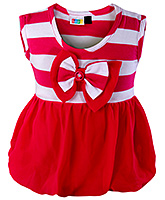 SAPS - Sleeveless Top With Stripes And Bow