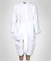 Jonez - Tradition Self Design Kurta With Dhoti
