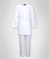 Jonez - Striped Short Kurta And Pajama Set