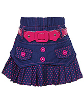 SAPS -  Pleated Denim Skirt