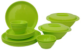 Incrizma 22 Pieces Round Dinner Set - Lime Green