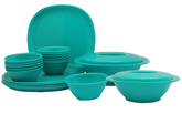 Incrizma 22 Pieces Square Dinner Set - Sea Green