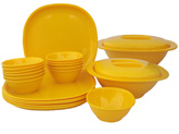 Incrizma 22 Pieces Square Dinner Set - Mango Yellow