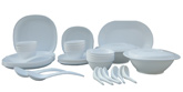 Incrizma 44 Pieces Square Dinner Set - White