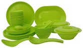 Incrizma 44 Pieces Round Dinner Set - Lime Green