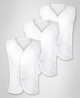 Baby Hug - Set of 3 White Vests